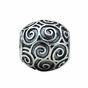 Kera™ Round Scroll Bead - click to Enlarge