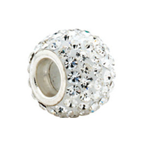 Kera™ Roundel Bead with Crystals