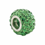 Kera™ Roundel Bead with Pave' Peridot Crystals
