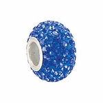 Kera™ Sapphire-Colored Crystal Pave' Bead