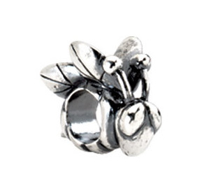 Kera™ Sterling Silver Bee Bead