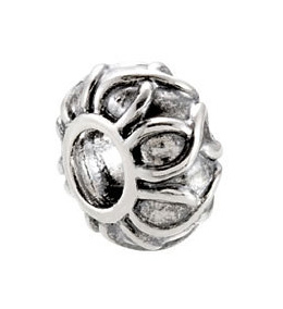 Kera™ Sterling Silver Decorative Bead