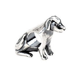 Kera™ Sterling Silver Dog Bead