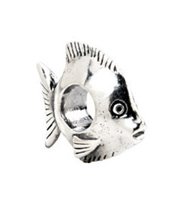 Kera™ Sterling Silver Fish Bead