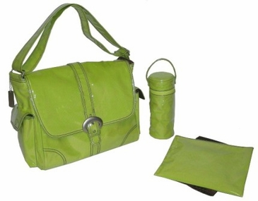 Kiwi Corduroy - Laminated Buckle Diaper Bag by Kalencom