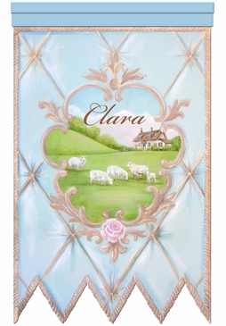 La Belle Campagne Wall Hanging Personalized by Dish and Spoon