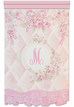 Lady Catherine's Roses Chiffon Petal Wall Hanging Personalized by Dish and Spoon