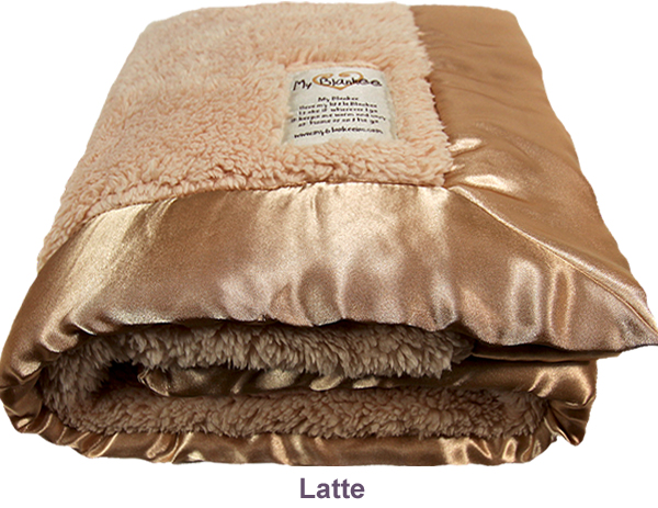latte fuzzy blanket by my blankee bliss living