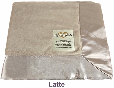 Latte Solid Velour Blanket by My Blankee