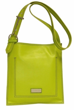 Leather Scoop Sling Green Hadaki Handbag
