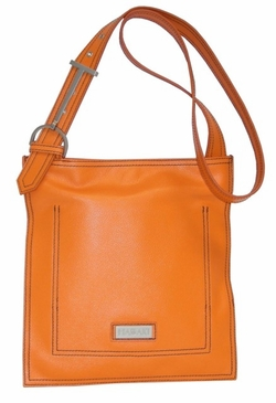 Leather Scoop Sling Orange Hadaki Handbag