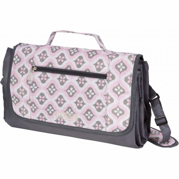 Let's Sweet Blush Montage Play Mat Diaper Bag by Bumble Bags