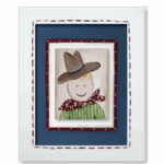 Lil Wrangler - Cowboy Framed Canvas Wall Art