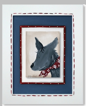 Lil Wrangler - Coyote Framed Canvas Wall Art