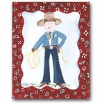 Lil Wrangler - Sheriff Canvas Wall Art
