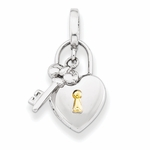 Lock and Key Locket Pendant