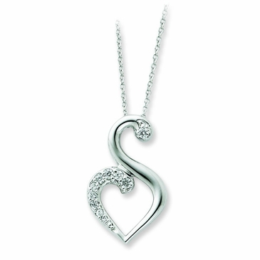 Love and Friendship CZ Necklace