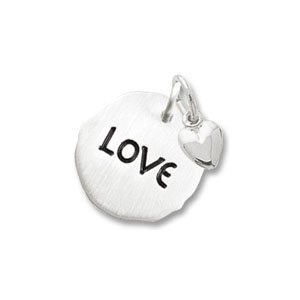 Love Tag with Heart Charm by Forever Charms - Personalized