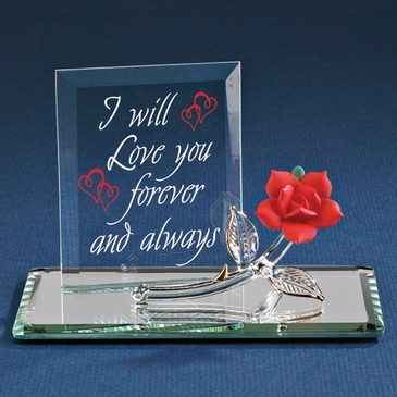 Love You Forever Glass Display