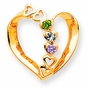 Loving Hearts Family Birthstone Pendant - click to Enlarge