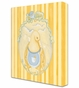 Mama Duck Pastel Blue Stretched Art Personalized by Dish and Spoon - click to Enlarge