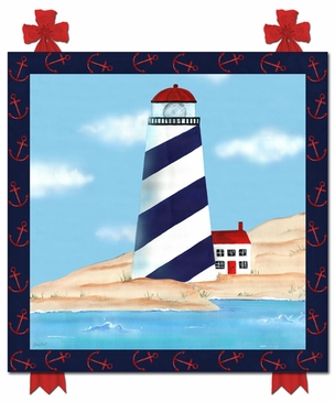 Maritime Lighthouse Stretched Art by Dish and Spoon