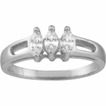 Marquise Birthstone Ring in Sterling Silver