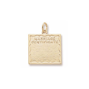 Marriage Certificate Charm by Forever Charms - Personalized