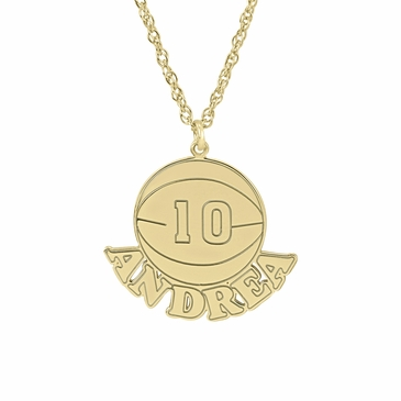 Men's Basketball Necklace - Personalized