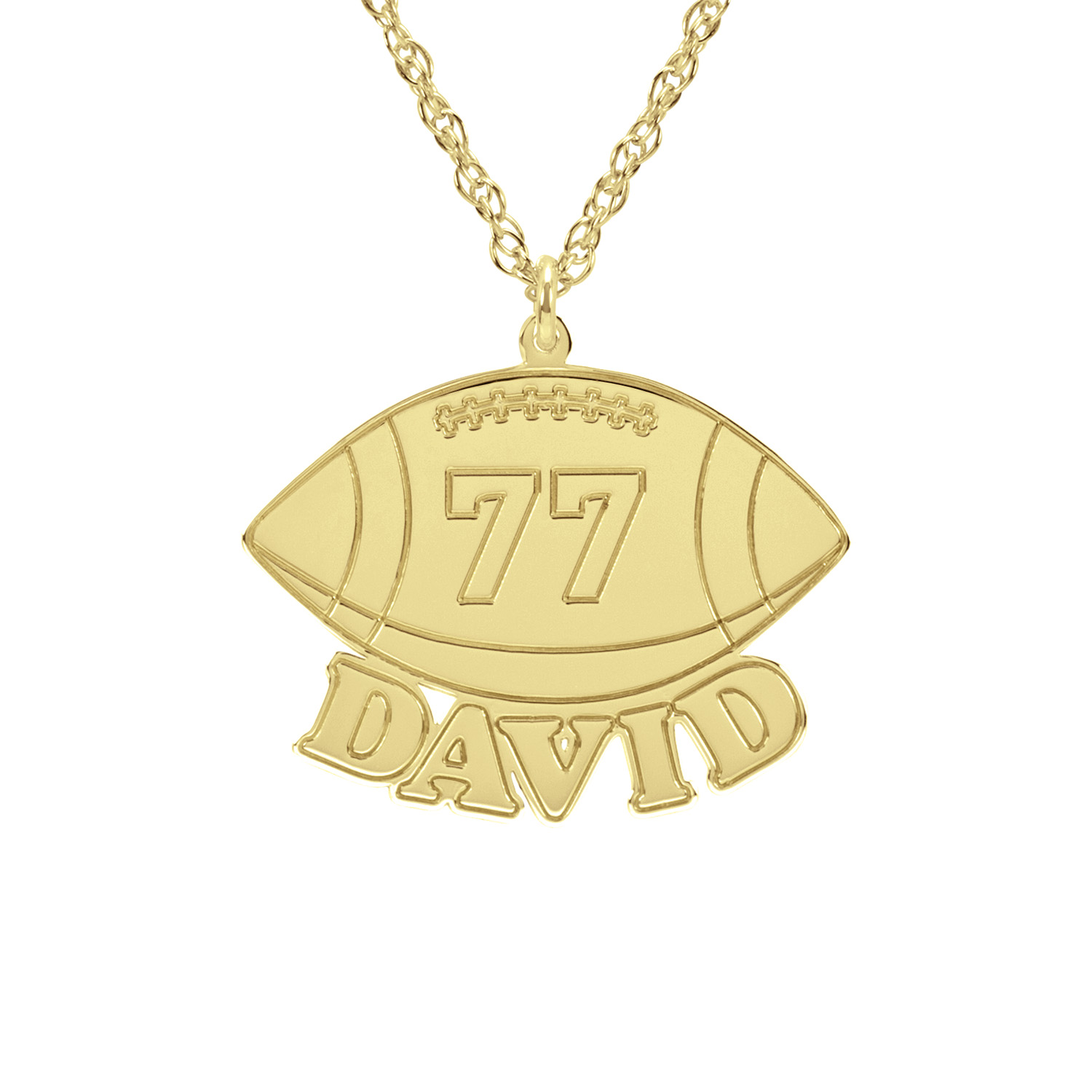 kay en zoom yellow gold necklace football hover mv to kaystore zm