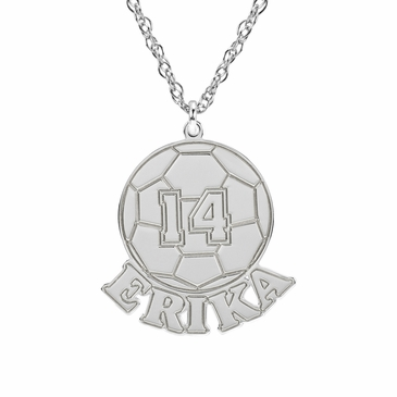 Men's Soccer Ball Necklace - Personalized