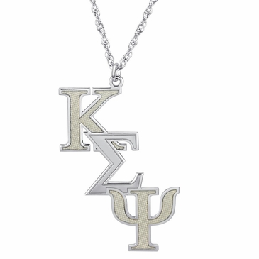 Mens Fraternity Letters Necklace