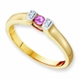 Modern Family Birthstone Ring - with Genuine Stones - click to Enlarge