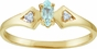 Modern Geometry Birthstone and Diamond Ring - click to Enlarge