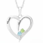 Modern Heart Pendant Necklace