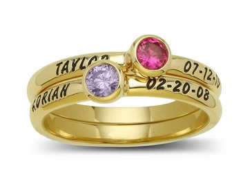 Mom's Gemstone Name Ring