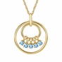 Mom's March Birthstone Charm Circle Necklace - click to Enlarge