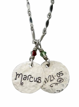 Mom's Name Charm Necklace