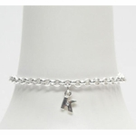 Monogram Bracelet with Genuine Diamond for Girl