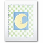 Moon & Stars - Moon Framed Canvas Wall Art