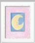 Moon & Stars - Moon Framed Canvas Wall Art - click to Enlarge