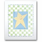 Moon & Stars - Star Framed Canvas Wall Art