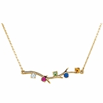 Mother Birthstone Branch Necklace