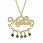 Mother Dangling Birthstones Necklace - click to Enlarge