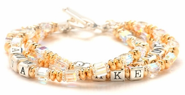 Mother's Gold Swarovski Name Bracelet
