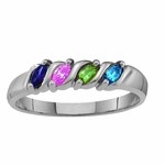 Mother's Marquise Birthstones Ring