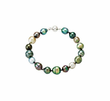 Multi-Color Tahitian Pearl Bracelet
