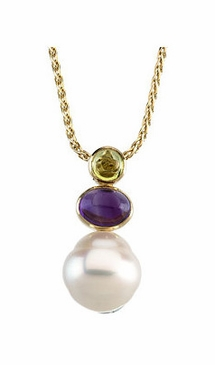 Multi-Gemstone and Pearl Pendant