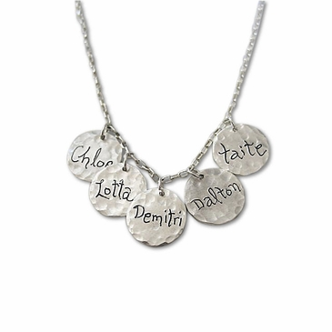 Multi-Silver Charms Family Necklace