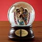 Musical Glitter Domes with Hand-Painted Angels - Personalized - click to Enlarge
